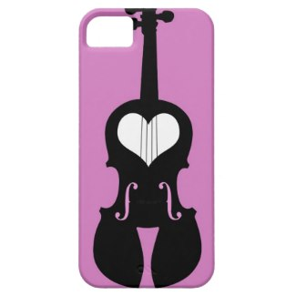 pink violin cell phone case